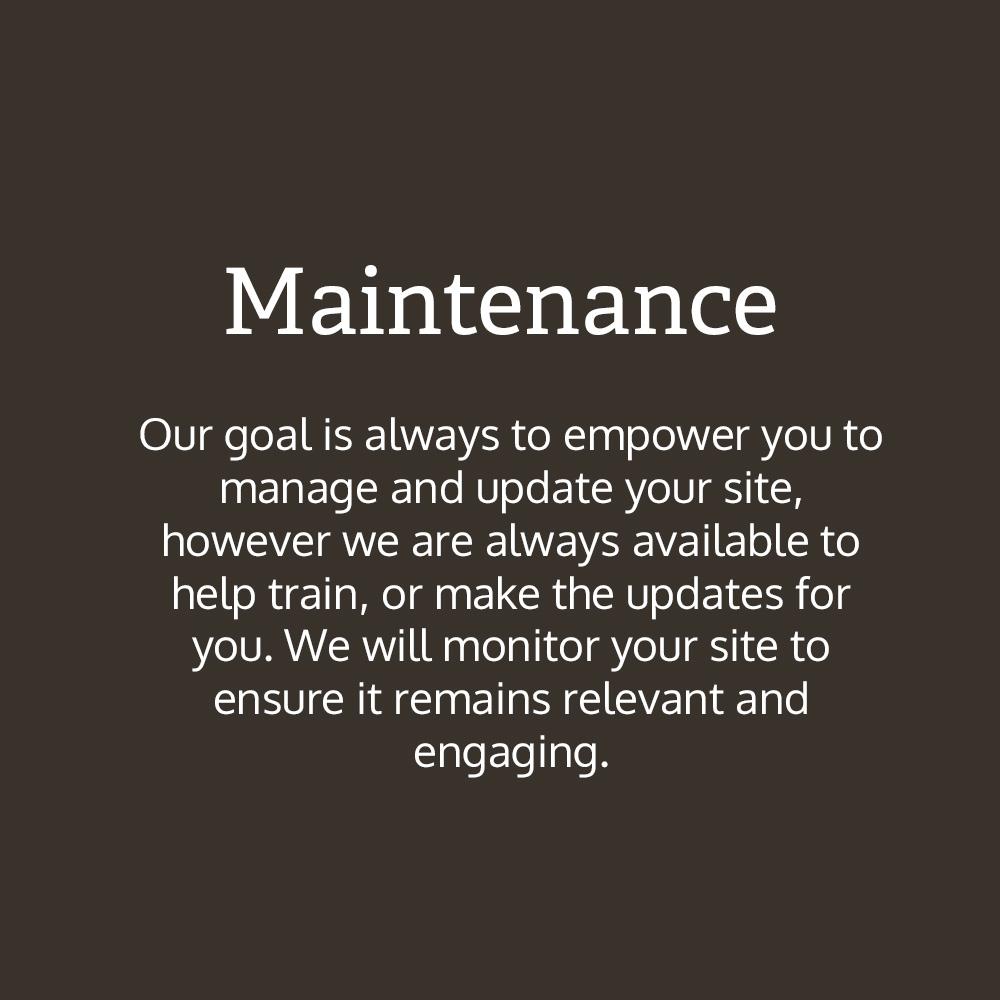 Maintenence text box